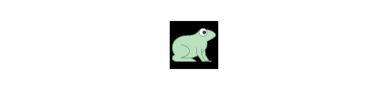 Mascotes de sapo - Fantasias de mascote em Redbrokoly.com