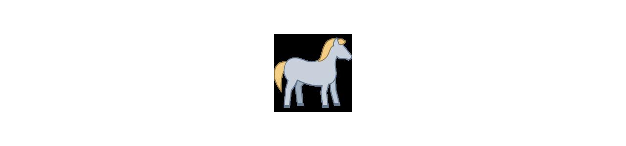 Mascotes de cavalo - Fantasias de mascote em Redbrokoly.com