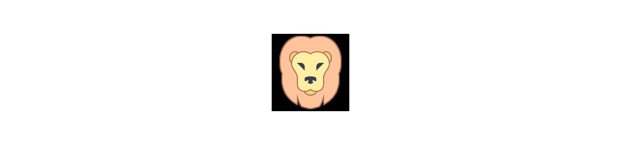 Mascotes de leão - Fantasias de mascote em Redbrokoly.com