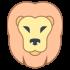 Löwenmaskottchen