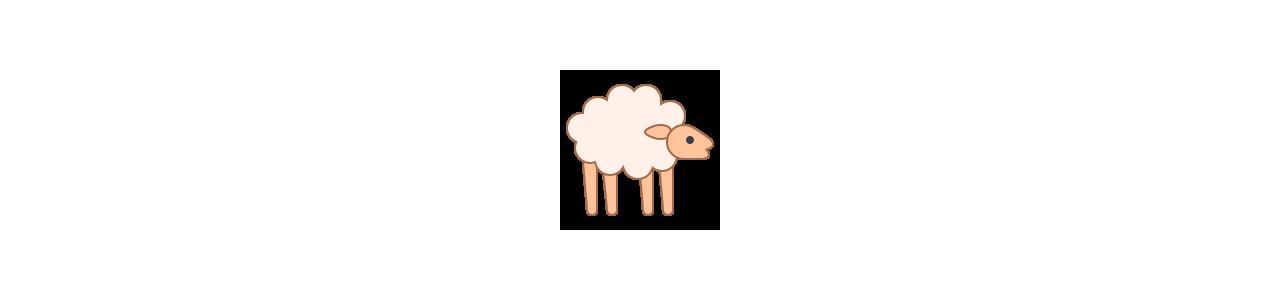 Mascotes de ovelhas - Fantasias de mascote em Redbrokoly.com