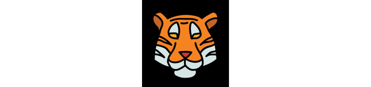 Mascotes de tigre - Fantasias de mascote em Redbrokoly.com