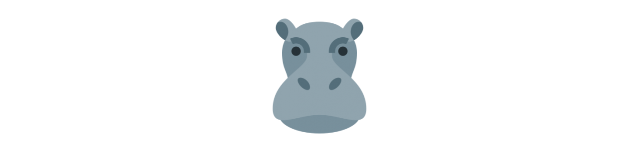 Hippopotamus maskoter - Maskot kostumer Redbrokoly.com