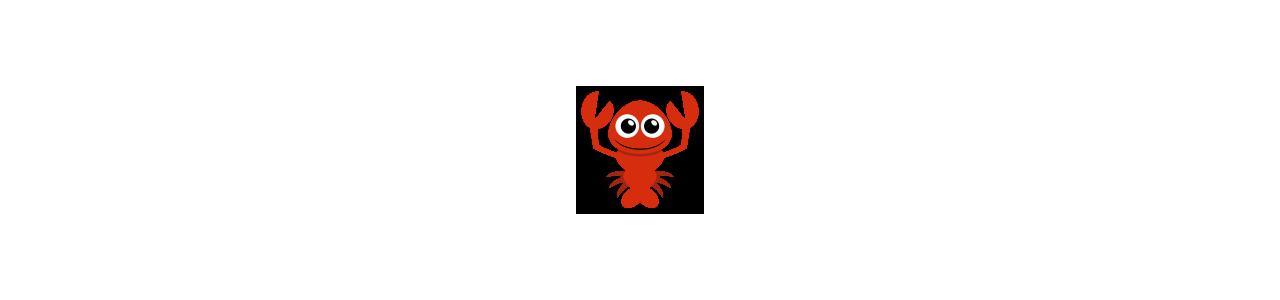Mascotes de lagosta - Fantasias de mascote em Redbrokoly.com