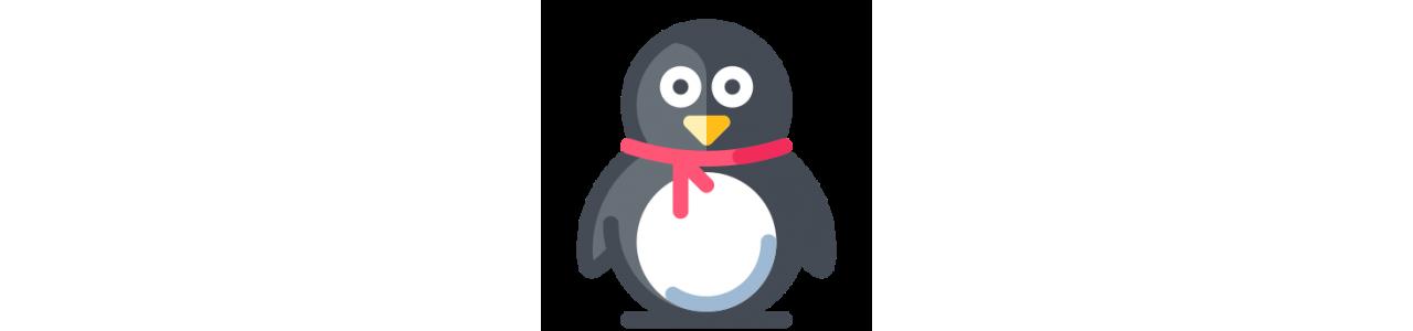Tučňáci maskoti - maskotové kostýmy Redbrokoly.com