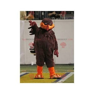 Mascot of the day: Brown and orange bird mascot. Discover @redbrokoly #mascots - Link : https://bit.ly/2Znokkz - REDBROKO_0397 #mascots #mascot #event #costume #redbrokoly #marketing #customized #and #brown #costume #bird #orange #custom https://www.redbrokoly.com/en/bird-mascot/397-brown-and-orange-bird-mascot.html