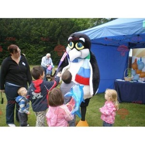 Mascot of the day: Penguin mascot black and white penguin. Discover @redbrokoly #mascots - Link : https://bit.ly/2Znokkz - REDBROKO_0625 #white #mascots #mascot #event #costume #redbrokoly #marketing #customized #and #black #costume #penguin #custom https://www.redbrokoly.com/en/fish-mascots/625-penguin-mascot-black-and-white-penguin.html