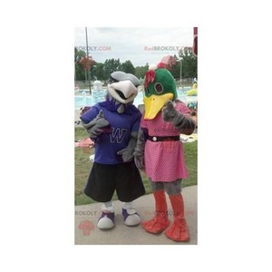 Mascot of the day: 2 duck and vulture mascots. Discover @redbrokoly #mascots - Link : https://bit.ly/2Znokkz - REDBROKO_0631 #mascots #mascot #event #costume #redbrokoly #marketing #customized #and #costume #duck #mascots #mascot #event #costume #redbr... https://www.redbrokoly.com/en/ducks-mascot/631-2-duck-and-vulture-mascots.html