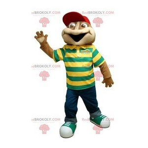 Mascot of the day: Brown frog mascot with a striped polo shirt. Discover @redbrokoly #mascots - Link : https://bit.ly/2Znokkz - REDBROKO_0383 #mascots #mascot #event #costume #redbrokoly #marketing #customized #frog #with #brown #costume #shirt #stripe... https://www.redbrokoly.com/en/frog-mascots/383-brown-frog-mascot-with-a-striped-polo-shirt.html