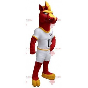 Mascot of the day: Red and yellow horse mascot in white outfit. Discover @redbrokoly #mascots - Link : https://bit.ly/2Znokkz - REDBROKO_0423 #white #mascots #mascot #event #costume #redbrokoly #marketing #customized #and #red #yellow #costume #horse #... https://www.redbrokoly.com/en/horse-mascots/423-red-and-yellow-horse-mascot-in-white-outfit.html