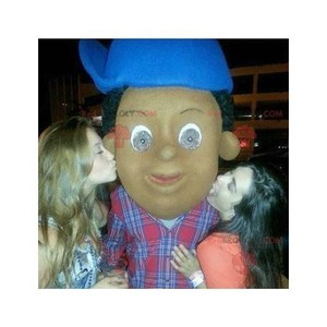 Mascot of the day: African American mascot with a blue cap. Discover @redbrokoly #mascots - Link : https://bit.ly/2Znokkz - REDBROKO_0440 #mascots #mascot #event #costume #redbrokoly #marketing #customized #with #blue #costume #cap #african #american #... https://www.redbrokoly.com/en/unclassified-mascots/440-african-american-mascot-with-a-blue-cap.html