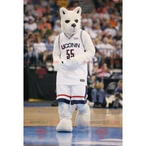 Mascot of the day: White and black wolf mascot. Discover @redbrokoly #mascots - Link : https://bit.ly/2Znokkz - REDBROKO_0395 #white #mascots #mascot #event #costume #redbrokoly #marketing #customized #and #black #costume #wolf #custom https://www.redbrokoly.com/en/wolf-mascots/395-white-and-black-wolf-mascot.html