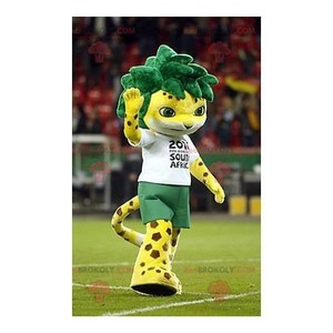 Mascot of the day: Spotted yellow tiger mascot with green hair. Discover @redbrokoly #mascots - Link : https://bit.ly/2Znokkz - REDBROKO_0628 #mascots #mascot #event #costume #redbrokoly #marketing #customized #green #tiger #with #hair #yellow #costume... https://www.redbrokoly.com/en/tiger-mascots/628-spotted-yellow-tiger-mascot-with-green-hair.html